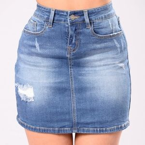 Fashion Nova jean skirt